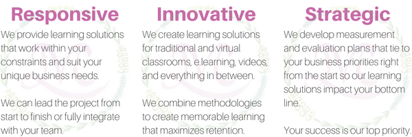 Our instructional design promises