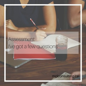 Assessment: I've got a few questions | Blog Post | First in series