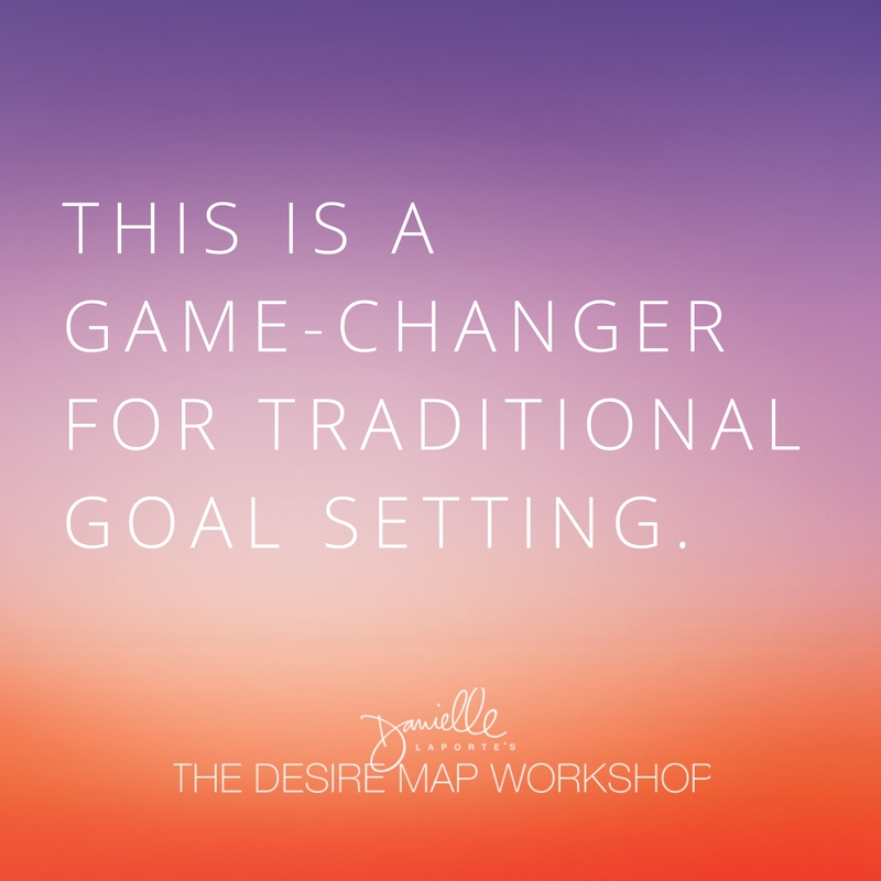 The Desire Map is a game-changer for goal setting.
