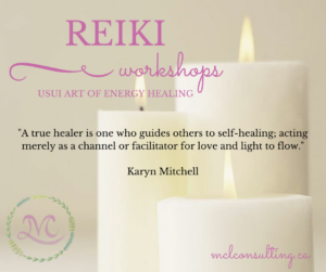 Reiki workshop quote from Karyn Mitchell about healing