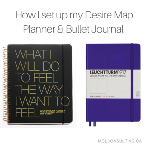 How I set up my Desire Map Planner & Bullet Journal for maximum productivity