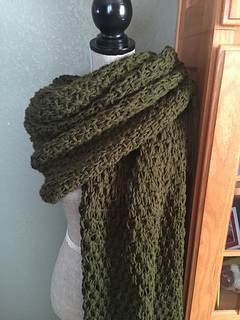 Image of completed prayer shawl.